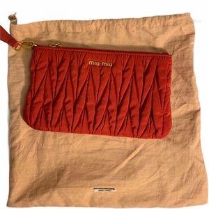 Miu Miu Matelasse Wristlet  Fabric clutch